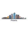flat line phoenix banner vector image vector image