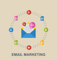 flat of email marketing design vector image vector image