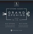 grand opening minimalist poster vector image vector image