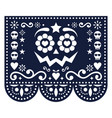 halloween and day dead papel picado design vector image