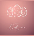 happy easter banner easter eggs doodle hand draw vector image