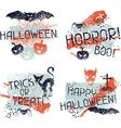 Happy Halloween prints with grunge texture vector image