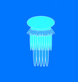 jellyfish on the blue background vector image vector image