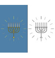 Jewish candle stick vector image