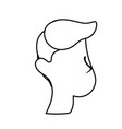 line nice man face with haistyle vector image vector image