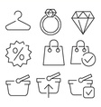 linear flat color icons for UIUX use vector image vector image