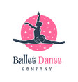 logo design people dancing ballet vector image