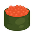 maki sushi with caviar vector image vector image