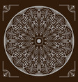 mandala with floral patterns vector image vector image