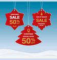 merry christmas and happy new year discount label vector image