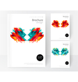 Minimalistic White cover Brochure design vector image vector image