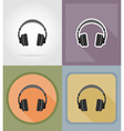 music items and equipment flat icons 11 vector image