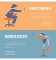 Perfect employee and business success banners vector image vector image