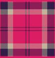 pink and purple tartan plaid seamless pattern vector image vector image