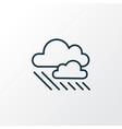 rainy weather icon line symbol premium quality vector image vector image