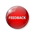 Realistic Glossy Feedback Computer Icon Button vector image vector image