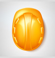 realistic hard hat safery helmet labour day vector image vector image