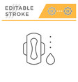 sanitary napkin line icon vector image