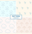 seamless patterns with silhouettes of umbrellas vector image