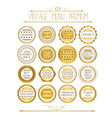 Set of gold badges and labels vector image vector image