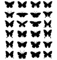 silhouettes of butterflies 24 vector image vector image