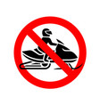snowmobiles are prohibited sign no snow mobile vector image vector image