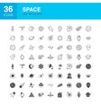 space line web glyph icons vector image