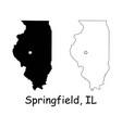 springfield illinois il state border usa map vector image vector image