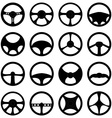 steering wheels icons set vector image vector image