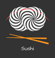 sushi logo concept vector image vector image