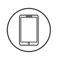 thin line mobile phone icon design vector image