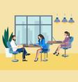 training future employees secretary office work vector image vector image