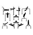 urban street calisthenics athletes people workout vector image