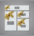 white gift stationery design template vector image vector image