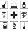 pharmacy icons vector image