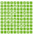 100 audio icons set grunge green vector image vector image