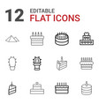 12 desert icons vector image vector image