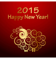 2015 Happy New Year background with sheep Year of vector image vector image