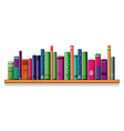 A shelf full of books vector image vector image