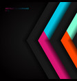 abstract vibrant color triangle geometric overlap vector image vector image