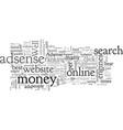 adsense profits can you make money with adsense vector image vector image
