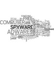 adware spyware free text word cloud concept vector image vector image