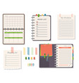 agenda list business paper clipboard in vector image