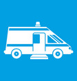 ambulance icon white vector image vector image
