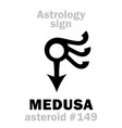 astrology asteroid medusa vector image
