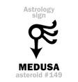 astrology asteroid medusa vector image