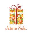 Autumn sale promotion banner