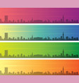 birmingham multiple color gradient skyline banner vector image vector image