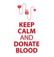 blood donation banner medical vector image vector image