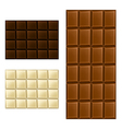 Chocolate bar set vector image